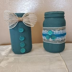 Hand Crafted Accents - Fall decor jars